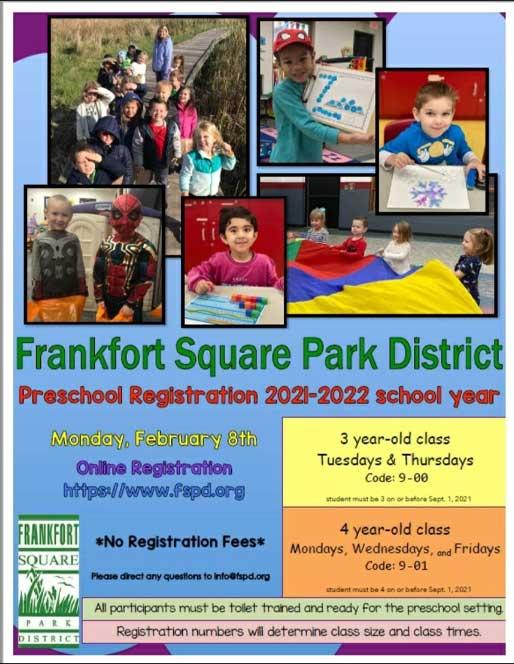 Preschool Registration 2021-2022 School Year