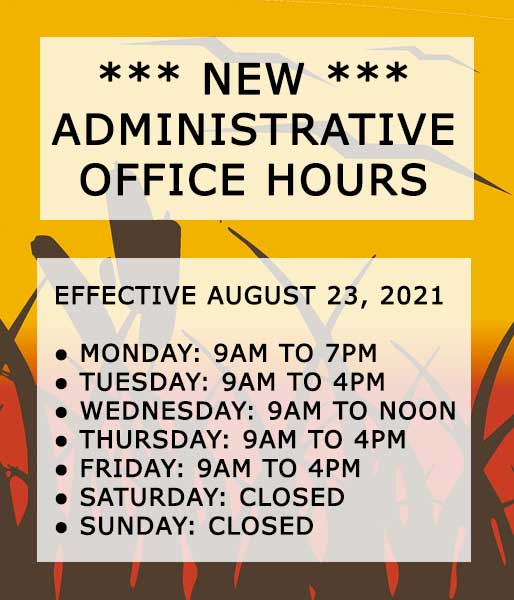 FSPD Admin Office New Hours